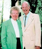Marta Weeks Wulf and her late husband, L. Austin Weeks.