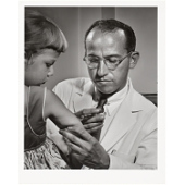 Jonas Salk.  Photo by Yousef Karsh. National Portrait Gallery, Washington, DC