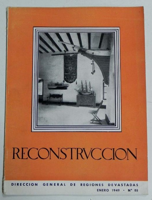Journal of the Dirección General de Regiones Devastadas y Reparaciones (Spain) with which architecture was used to transmit ideas and make a great propaganda operation of the Franco regime. It was published from 1940 to 1953.