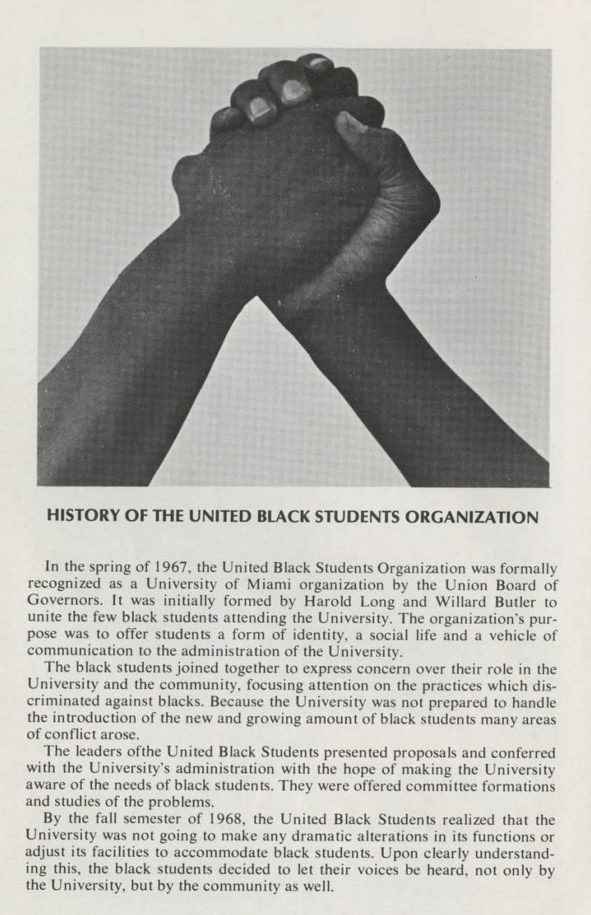 photograph of dark-skinned hands clasped and text